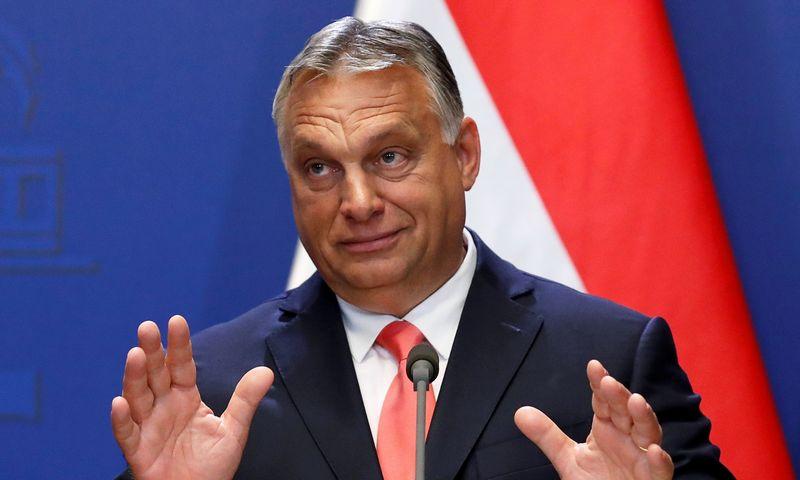 """Viktoras Orbanas, Vengrijos premjeras. Bernadetto Szabo (""""Reuters / """"Scanpix"""") nuotr."""