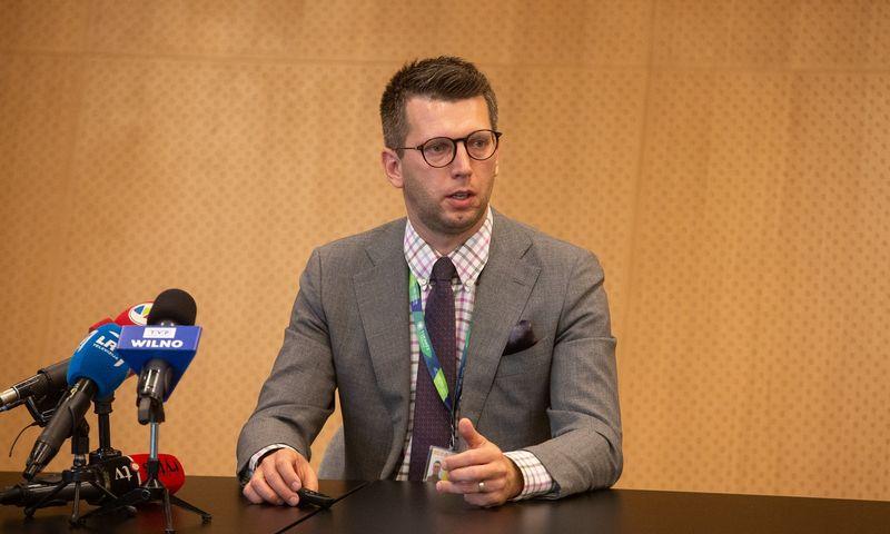 Aurimas Stikliūnas, VĮ Lietuvos oro uostai aviacinių paslaugų skyriaus vadovas. Vladimiro Ivanovo (VŽ) nuotr.