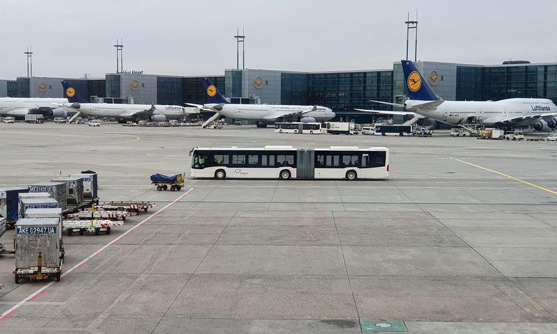 Frankfurto oro uostas. Lino Butkaus (VŽ) nuotr.