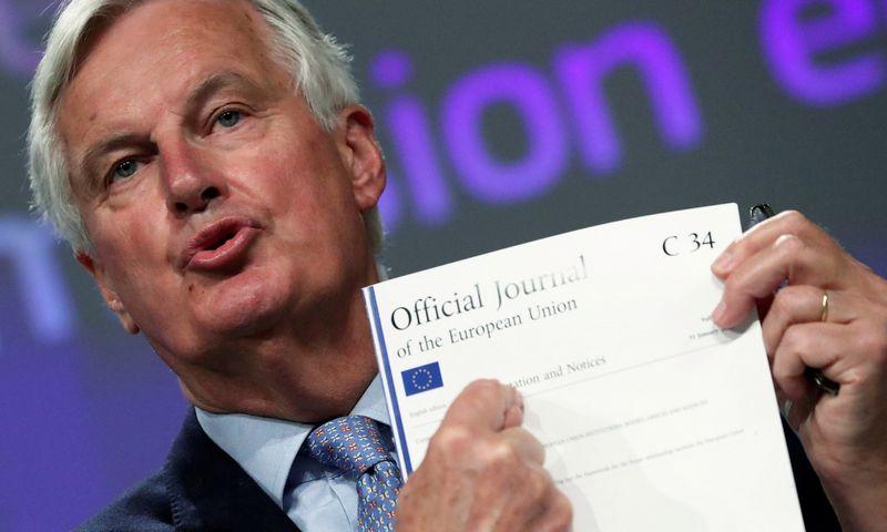 """Michelis Barnier, ES """"Brexit"""" vyriausiasis derybininkas. Yveso Hermano (""""Reuters"""" / """"Scanpix"""") nuotr."""