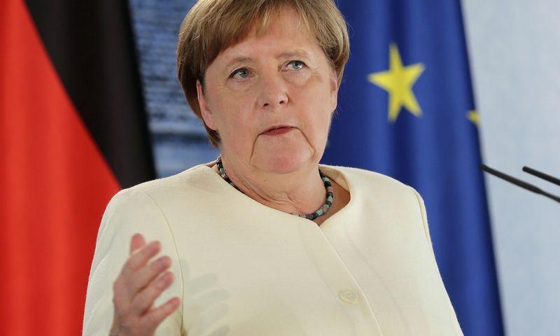 """Vokietijos kanclerė Angela Merkel. Hayoung Jeono (AP / """"Scanpix"""") nuotr."""