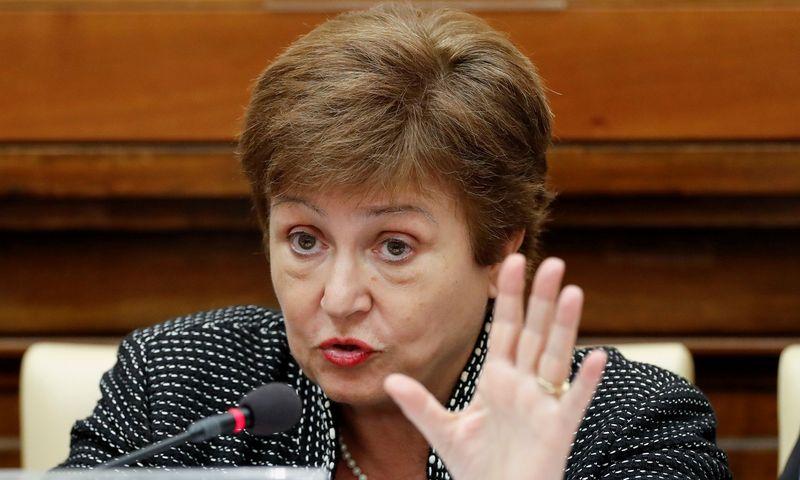 """Tarptautinio valiutos fondo(TVF) pirmininkė ir generalinė direktorėKristalina Georgieva. Remo Casilli (""""Reuters"""" / """"Scanpix"""") nuotr."""