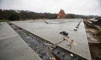 Zapyškio bažnyčios aplinkos tvarkymas baigtas, betonas liko