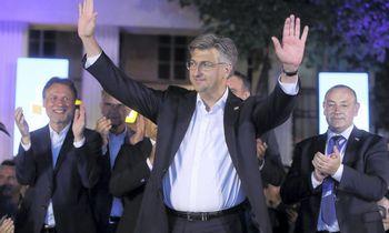 Kroatijos premjero partija džiaugėsi preliminariais rinkimų rezultatais