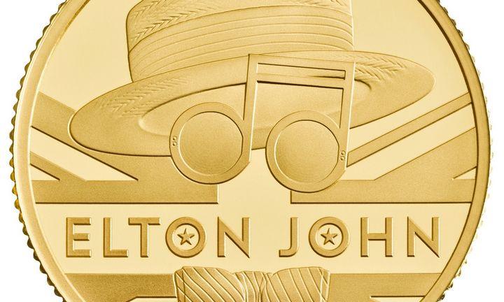 Sero E. Johno kūryba pagerbta 2.320 GBP vertės aukso moneta