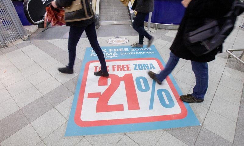 """""""Tax free"""" zona parduotuvėje. Vladimiro Ivanovo (VŽ) nuotr."""