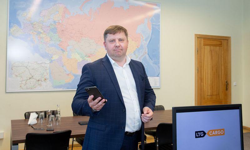"""Egidijus Lazauskas, AB """"LTG Cargo"""" generalinis direktorius. Juditos Grigelytės (VŽ) nuotr."""