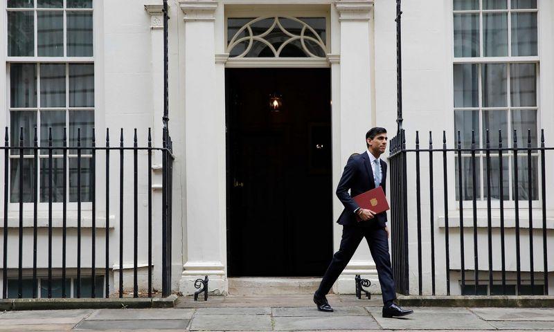 """JK Finansų ministras Rishis Sunakas. Tolga Akmen (AFP/""""Scanpix"""") nuotr."""