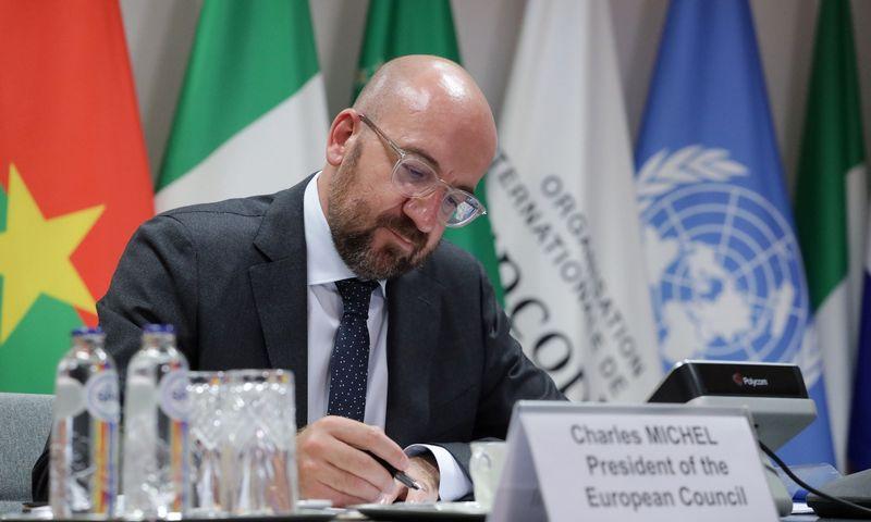 """Charles'is Michelis, EVT pirmininkas, siekia suderinti visų šalių pozicijas, kad kompromisą pavyktų pasiekti dar iki vasaros pabaigos. Ropi Pignatelli, (""""Zuma Press"""" / """"Scanpix"""") nuotr."""
