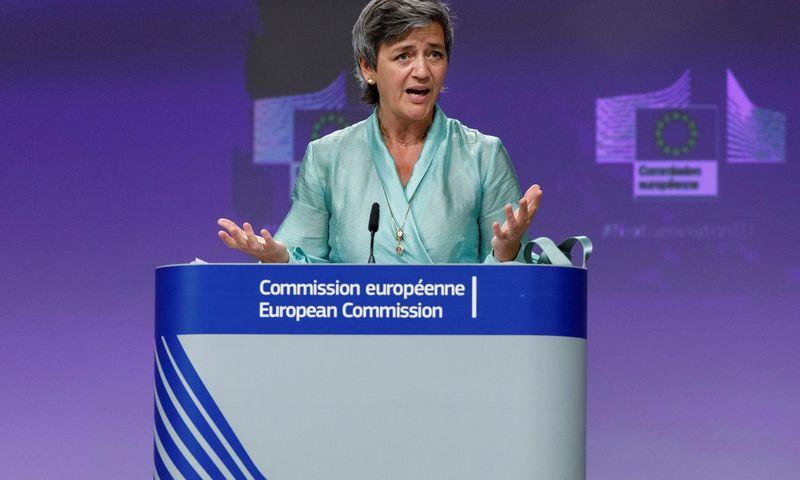 """ES konkurencijos komisarė Margrethe Westager. Olivier Matthys (""""Pool"""" / """"Reuters"""" / """"Scanpix"""") nuotr."""