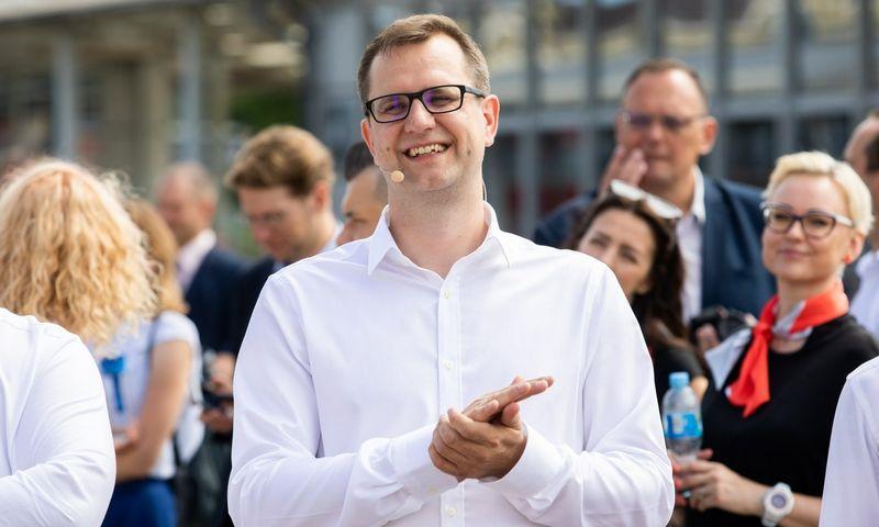 """Mantas Bartuška, """"Lietuvos geležinkelių"""" vadovas. Vladimiro Ivanovo nuotr."""