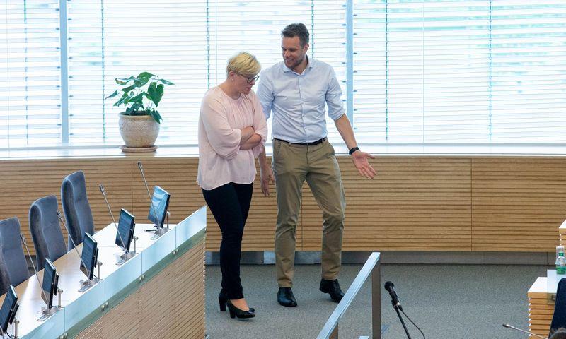 Ingrida Šimonytė ir Gabrielius Landsbergis. Juditos Grigelytės (VŽ) nuotr.