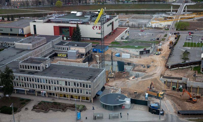 """""""k18B"""" statybos Vilniuje, Konstitucijos pr. Juditos Grigelytės (VŽ) nuotr."""