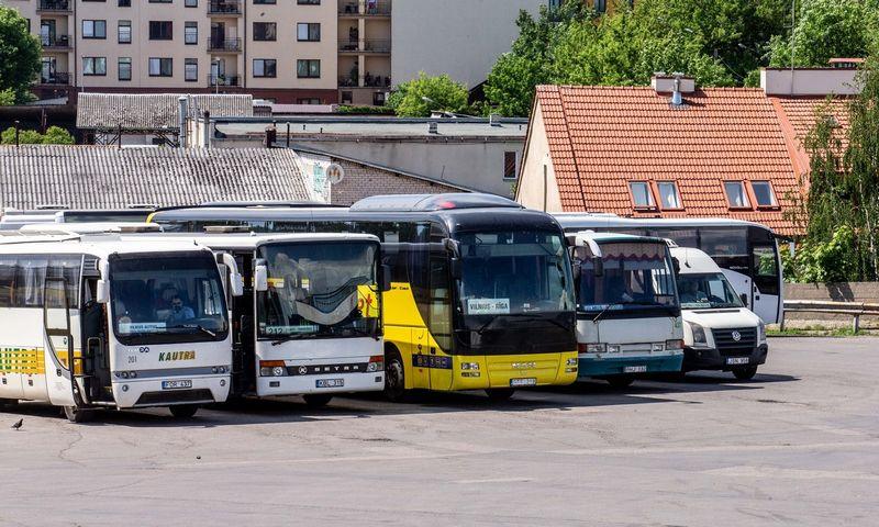 Keleivių grįžimas į tarpmiestinius autobusų reisus – labai vangus. Juditos Grigelytės (VŽ) nuotr.