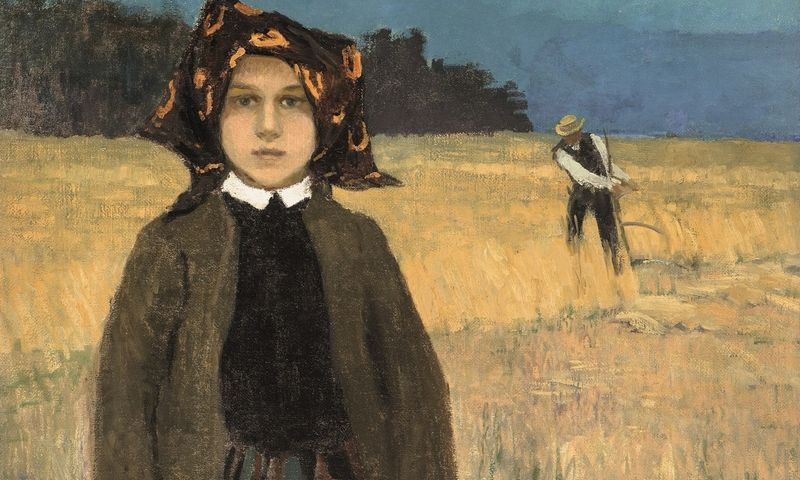 Johannas Walteris (1869–1932). Valstiečių mergaitė. Apie 1904. Latvijos nacionalinis dailės muziejus.