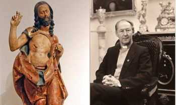 "Lietuvai grąžinama kunigui R. Mikutavičiui priklausiusi skulptūra ""Prisikėlęs Kristus"""