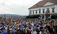 Vengrai protestuoja prieš žiniasklaidos laisvės varžymą