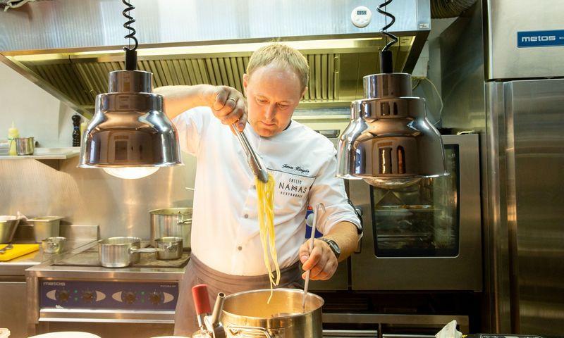 """Tomas Rimydis, """"Ertlio namo"""" virtuvės šefas. Juditos Grigelytės (VŽ) nuotr."""