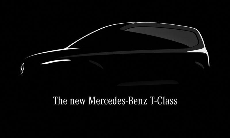 """Pirmasis oficialus naujojo T klasės modelio atvaizdas. """"Daimler AG"""" nuotr."""