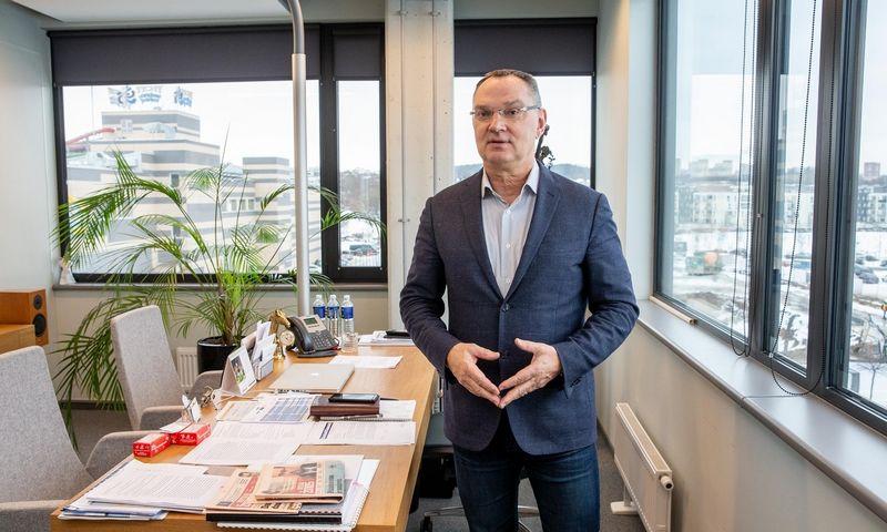 """""""Vakarų medienos grupės"""" Stebėtojų tarybos pirmininkas Sigitas Paulauskas. Juditos Grigelytės (VŽ) nuotr."""