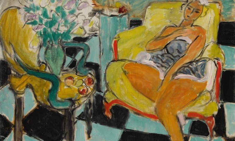 """Henri Matisse'o (1869–1954) """"Danseuse dans un interieur, carrelage vert et noir"""" parduotas už beveik 6,4 mln. GBP. """"Sotheby's"""" aukciono nuotr."""