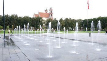 Lukiškių aikštės fontanas NVSC taikinyje