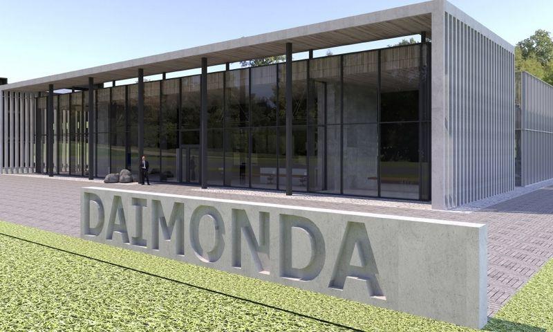 """Projektuojamas """"Daimondos"""" prekybos centras. UAB """"Nebrau"""" vizualizacija."""