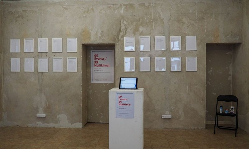 """Iš parodos """"99 Events/99 nutikimai"""" J. Meko vizualiųjų menų centre. Rengėjų nuotr."""
