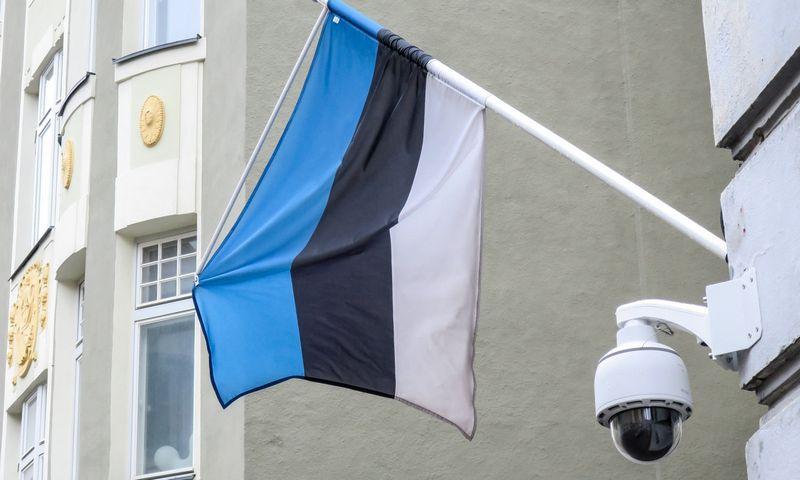 Estijos sostinė Talinas. Estijos valstybės vėliava. Juditos Grigelytės (VŽ) nuotr.