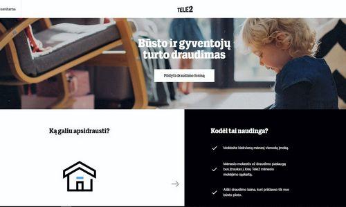"""""""Tele2"""" ima siūlyti automatizuotą būsto ir gyventojų turto draudimo paslaugą"""