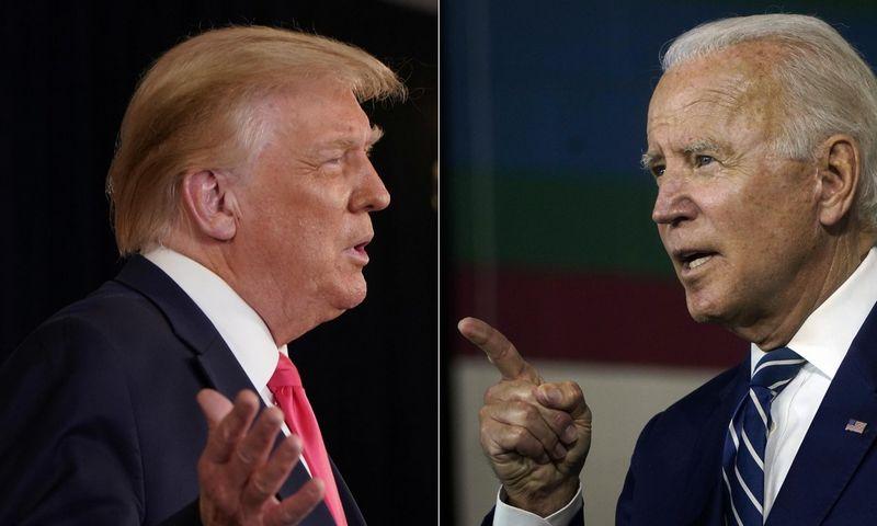 """Šiųmečių JAV prezidento rinkimų kandidatai: Donaldas Trumpas ir Joe Bidenas. """"Scanpix"""" nuotr. koliažas."""
