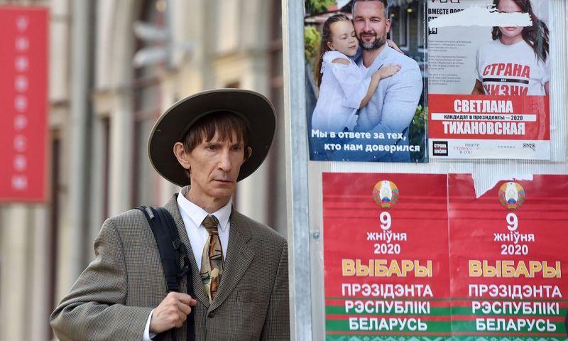 """Baltarusijoje vyksta prezidento rinkimai, balsuoja ir Lietuvoje gyvenantys Baltarusijos piliečiai. Sergei Gapono (AFP / """"Scanpix"""")"""