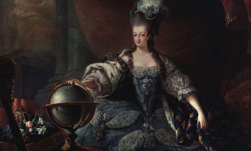 "Marijos Antuanetės portretas. Jean-Baptiste-Andre Gautier-Dagoty (1740–1786), Versalis. ""Scanpix"" nuotr."