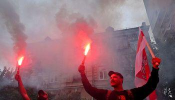 Antraprotestų naktis Baltarusijoje: vienas žmogus žuvo