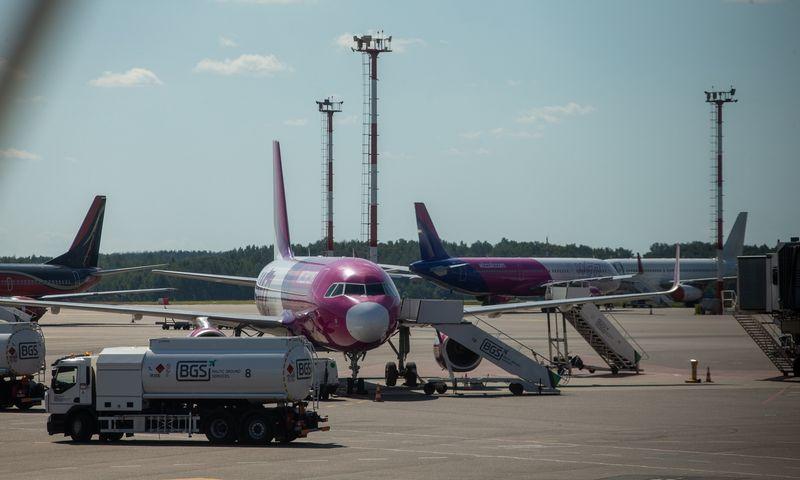 Lėktuvai Vilniaus oro uoste. Vladimiro Ivanovo (VŽ) nuotr.