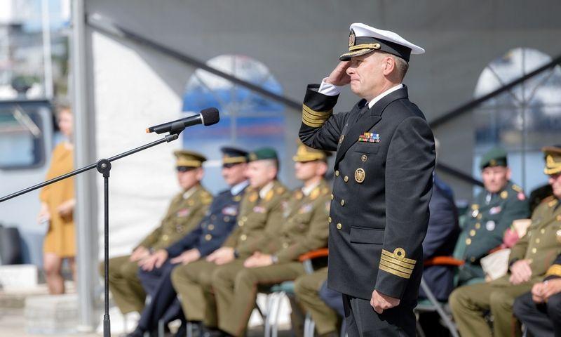 Jūrų kapitonas Giedrius Premeneckas, naujasis Karinių jūrų pajėgų vadas.  KJP / lvn. Tomo Donausko nuotr.