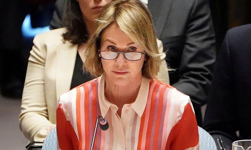 "JAV ambasadorė Jungtinėms Tautoms Kelly Craft. Carlo Allegri (""Reuters"" / ""Scanpix"") nuotr."