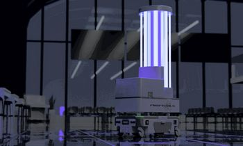 Sprendimas oro uostams: dezinfekcinis robotas, gebantis atliepti papildomus poreikius