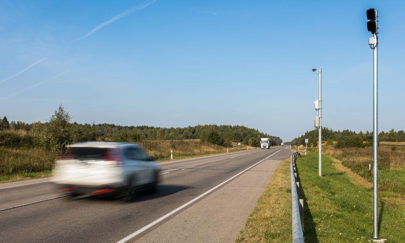 Vidutinio automobilių greičio matavimo sistema. LAKD nuotr.