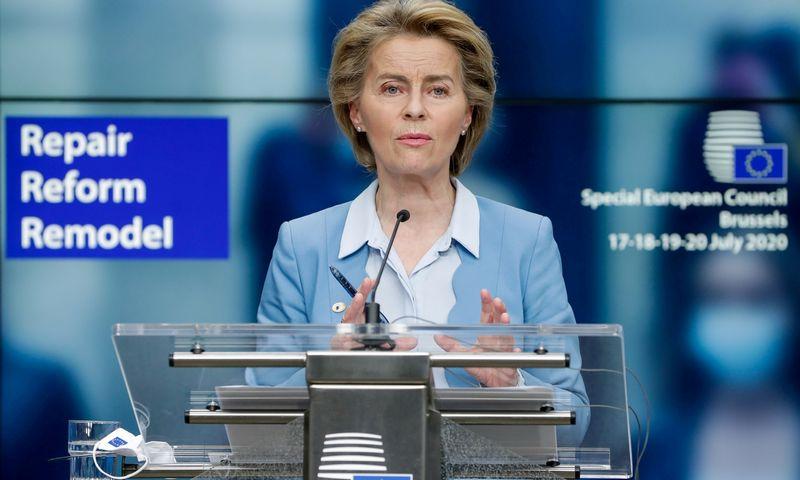 "Ursula von der Leyen, Europos Komisijos pirmininkė. (""Reuters"" / ""Scanpix"") nuotr."