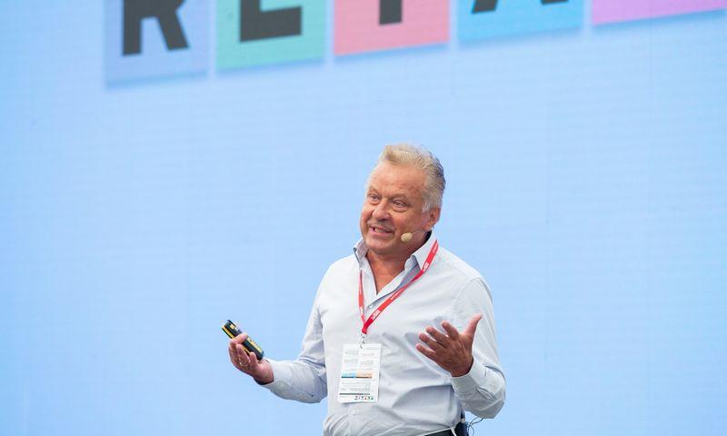 """""""Verslo žinių"""" organizuojama prekybos konferencija """"Retail 2020"""". Rimantas Perveneckas, """"Aprangos"""" grupės generalinis direktorius. Juditos Grigelytės (VŽ) nuotr."""