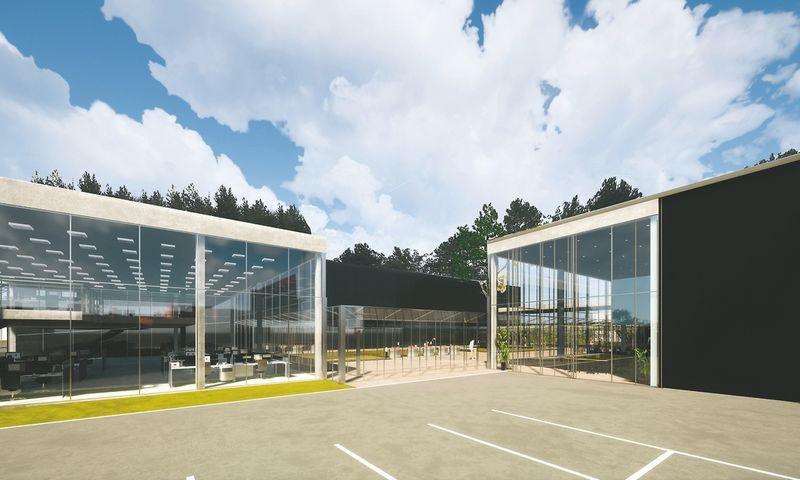 Vilniaus inovacijų parko verslo inkubatoriaus vizualizacija