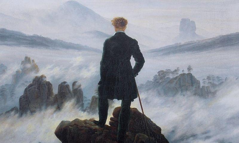 """Casparo Davido Friedricho """"Keliauninkas virš rūko jūros"""". """"Vikipedijos"""" iliustr."""