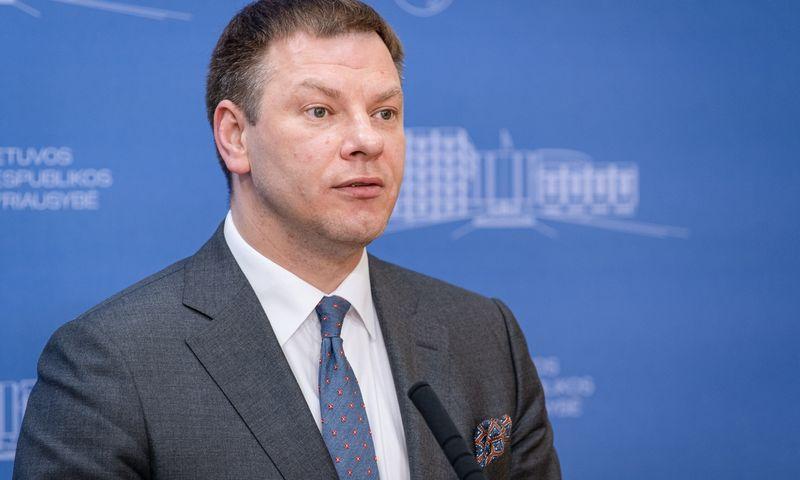 Vilius Šapoka, finansų ministras. Dariaus Janučio (LRVK) nuotr. Įmonės nuotr.