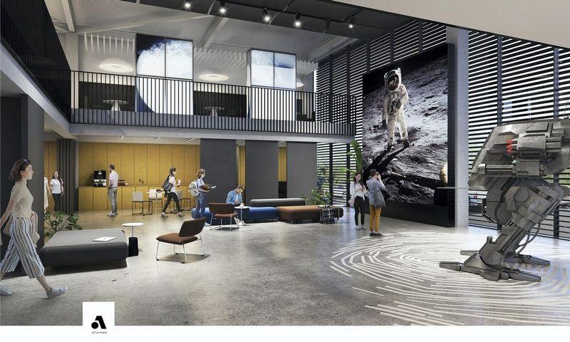 Skaitmeninių inovacijų centro vizualizacija. Bendrovės nuotr.