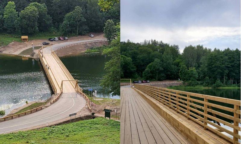 Restauruotas Dubingių tiltas. Lietuvos automobilių kelių direkcijos nuotr.