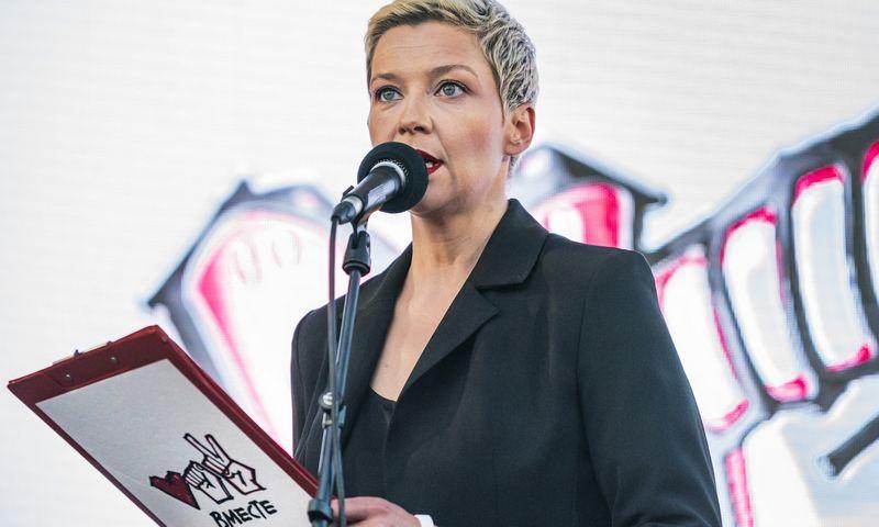 """Koordinacinės tarybos prezidiumo narė Maryja Kalesnikava. Celestino Arce Lavino (""""ZUMA Wire"""" / """"Scanpix"""") nuotr."""