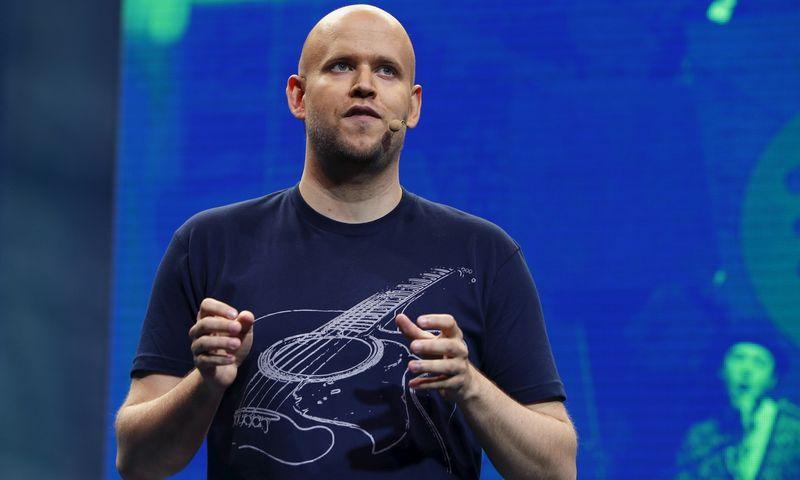 """Danielis Ekas, """"Spotify"""" įkūrėjas ir vadovas. Shannon Stapleton (""""Reuters""""/""""Scanpix"""") nuotr."""