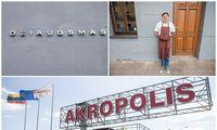 """Džiaugsmo kartėlis tarp """"Akropolio"""" ir restorano """"Džiaugsmas"""""""