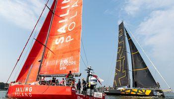 """Didžiųjų lenktynės: """"Ambersail 2"""" ir """"Sailing Poland"""""""